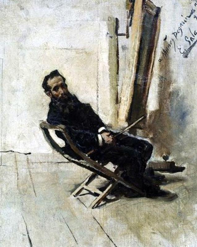 Retrato de Antonio Muñoz Degrain, Emilio Sala Francés, Pintor Español, Emilio Sala, Pintor Valenciano, Retratos de Emilio Sala Francés, Antonio Muñoz Degrain