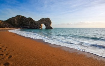 Wallpaper: The Beach. Jurassic Coast