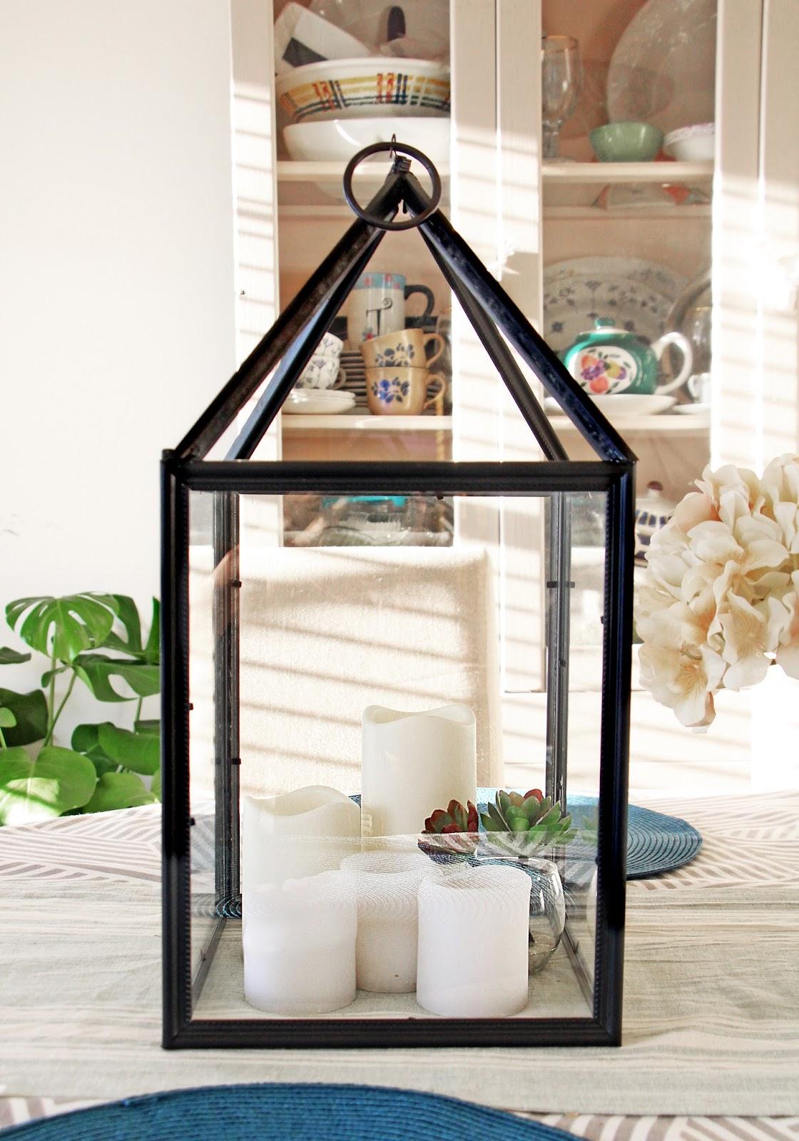 Grosgrain: DIY Hurricane Lanterns Out of Dollar Store Frames