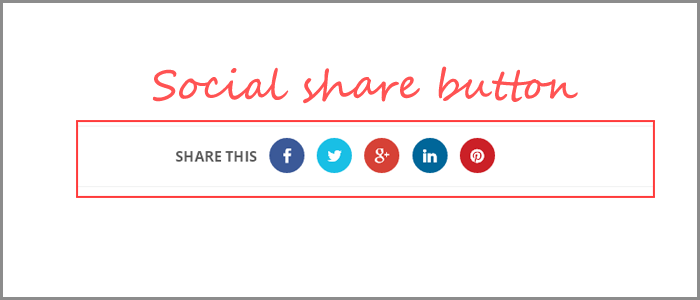 Blogger Animated Social Share Button