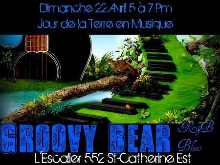 5à7 Jour de la Terre, les Groovy Bear Blues, dimanche le 22 avril 2012 à L'Escalier