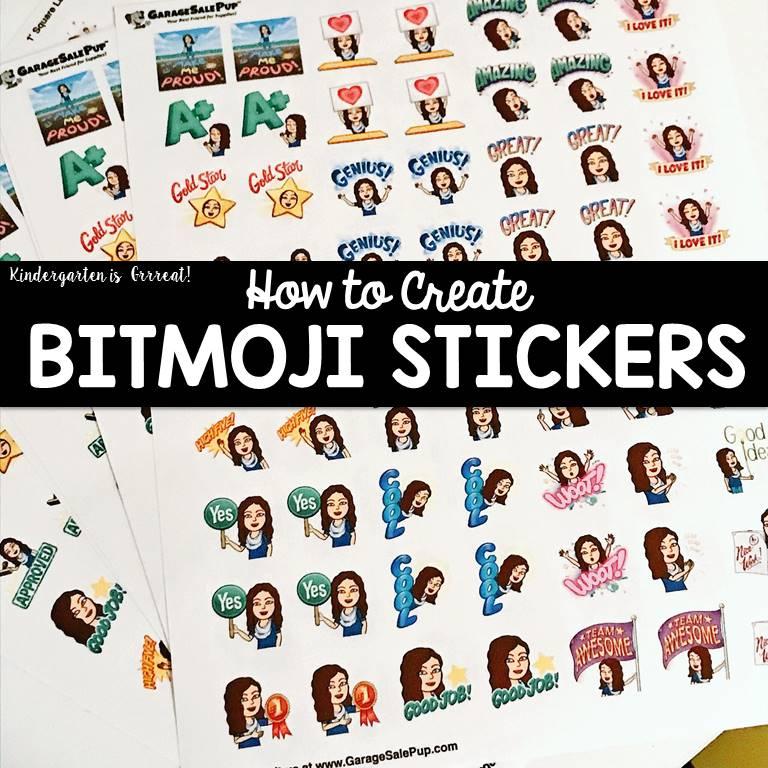 Kindergarten is Grrreat!: Bitmoji Stickers