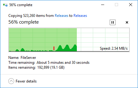 Copying files is painfully slow on Windows 10 | Network