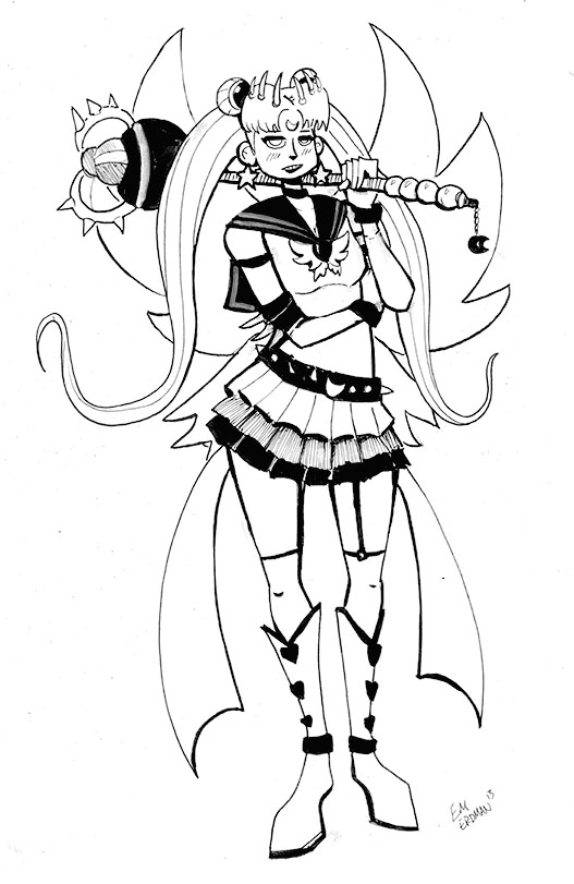 The Temple of Cartoon Mojo: Sailor Moon timed sketch challenge