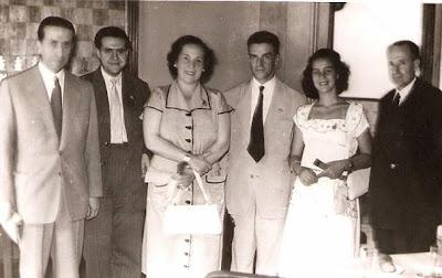 1951 - Visita del equipo lisboeta al local social del Club Ajedrez Ruy López Tívoli - Una instantánea para la historia