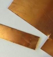 potong plat tembaga tipis 1 mm
