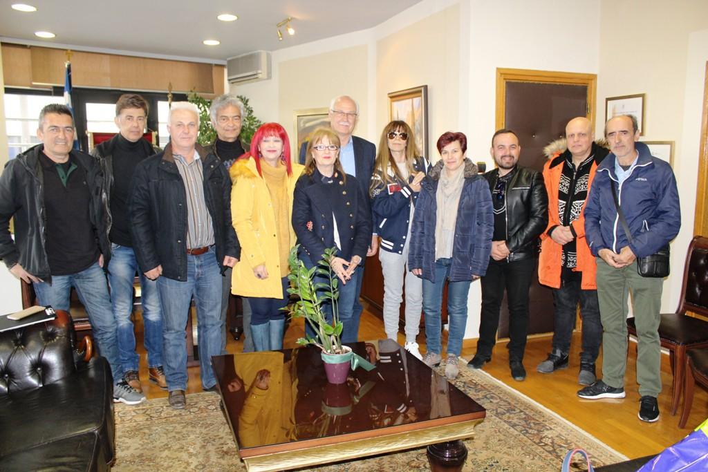 Συνάντηση του δημάρχου Λαρισαίων με μέλη της Αθλητική Ομοσπονδία Νεφροπαθών και Μεταμοσχευμένων