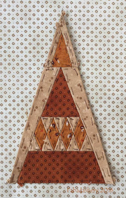 Dear Jane Quilt - Border Triangle Block BR13 Argyle