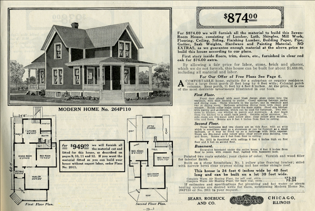 catalog image of Sears No. 110 in 1916