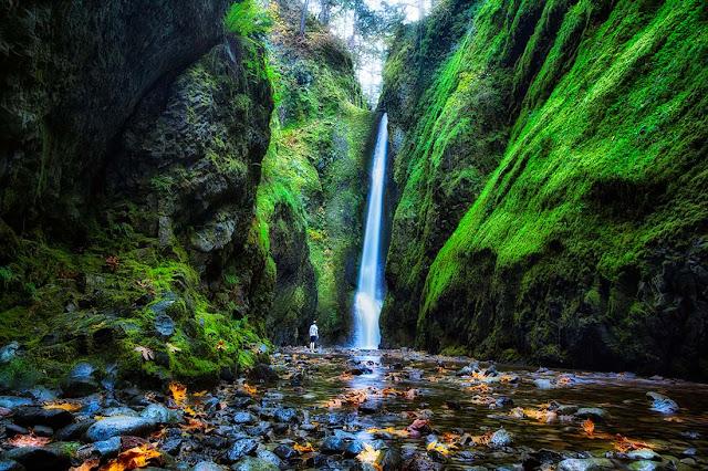Amazing Waterfall at Oneonta Gorge, Oregon