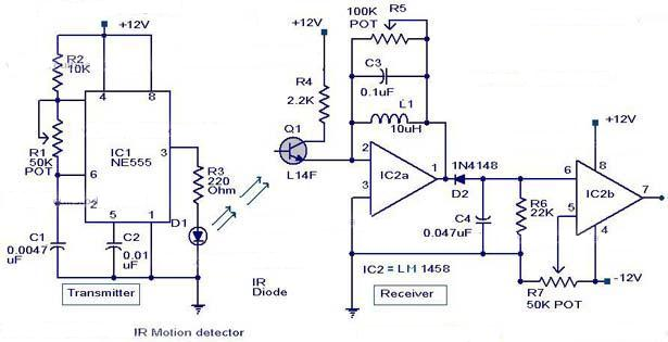 how to make infrared motion detector circuit. Black Bedroom Furniture Sets. Home Design Ideas