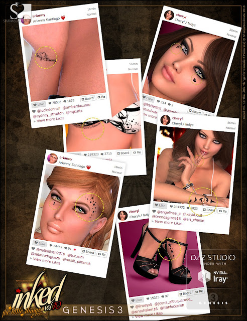 Inked Vol.10: The Little Things for Genesis 3 Female
