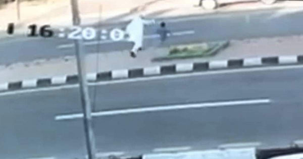 Saudi father gets run over while trying to save son in heart wrenching video