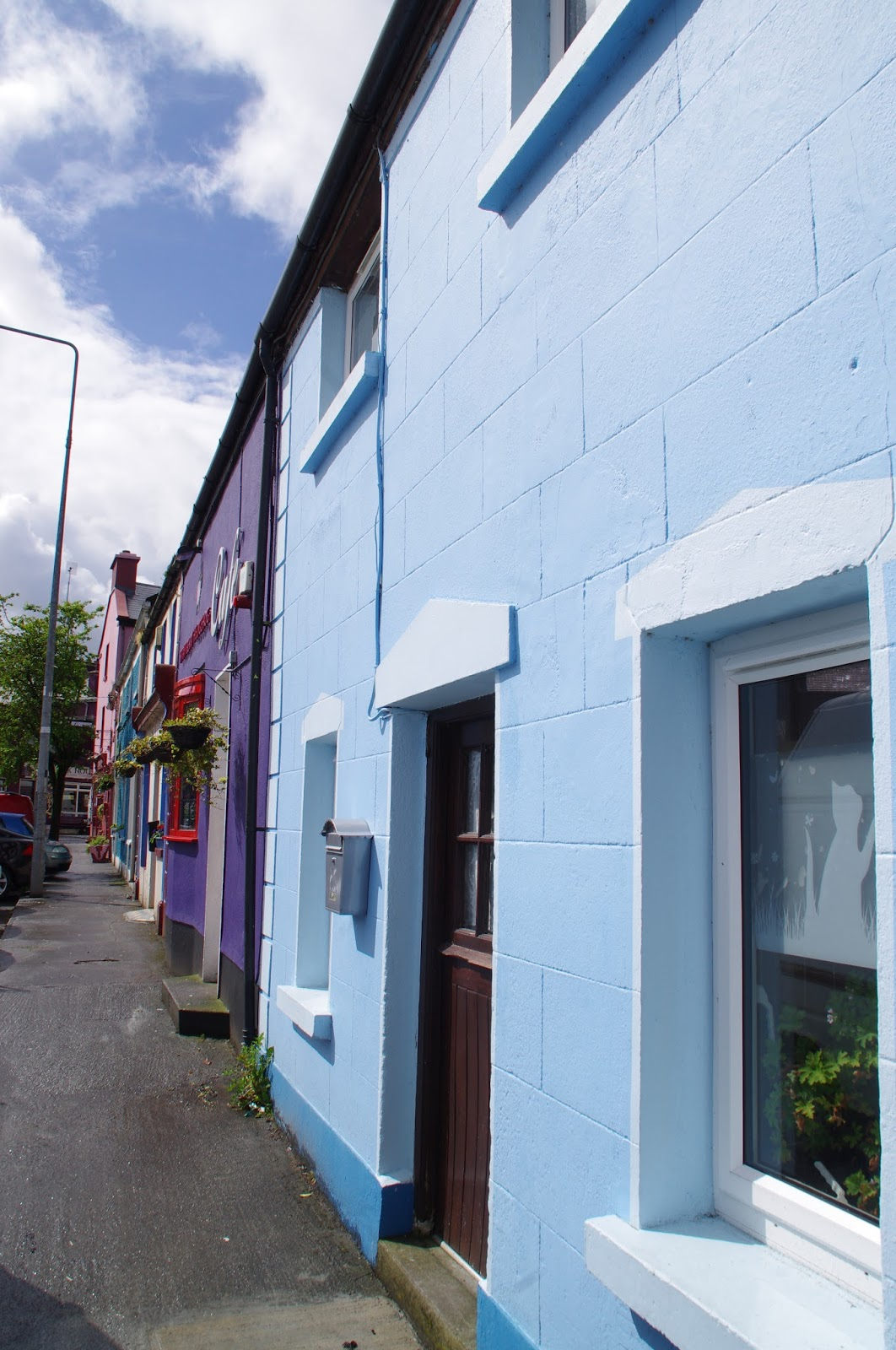 Colourful houses in Kinvara Ireland