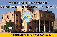 Rajasthan PTET Answer Key 2017