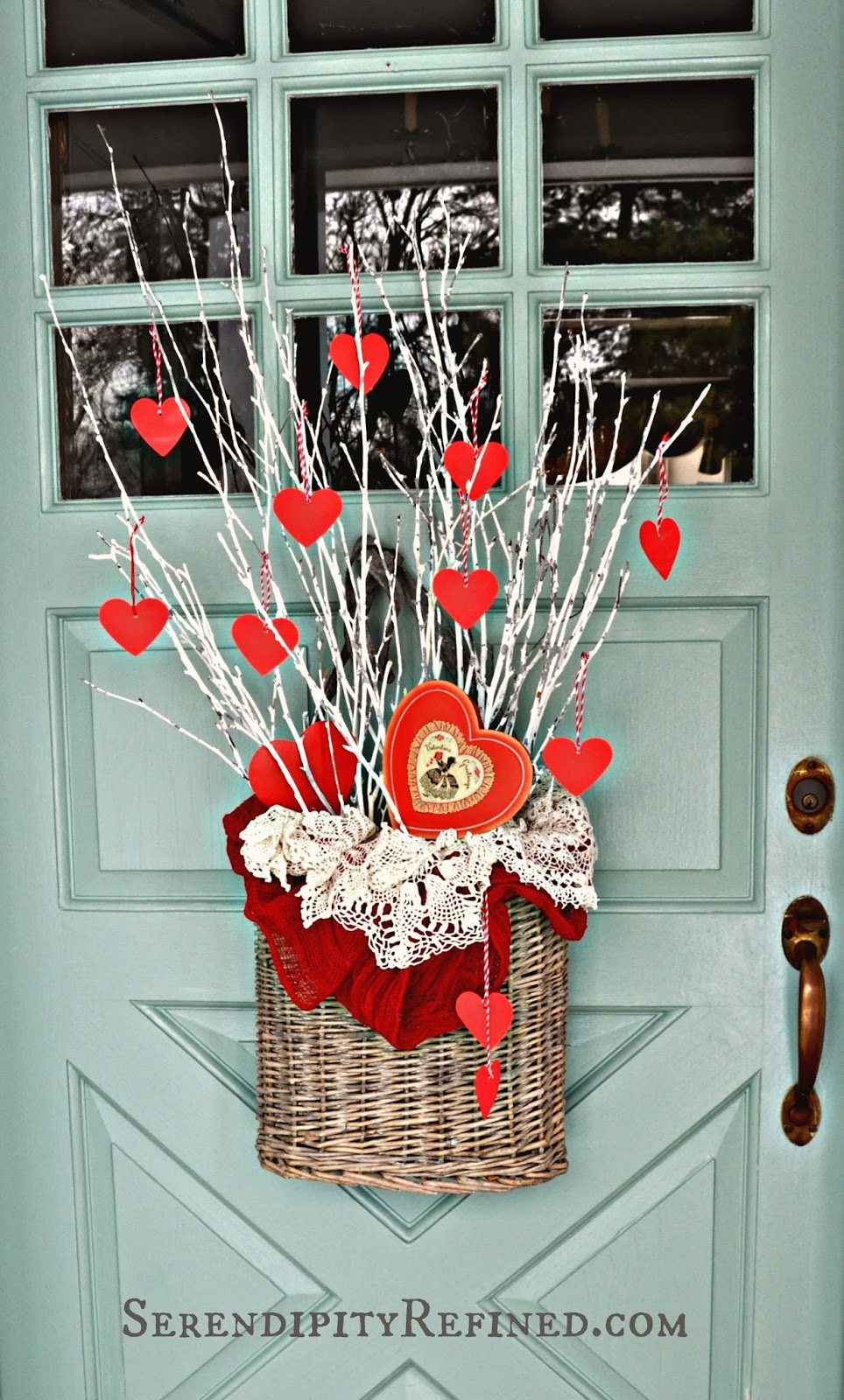 Serendipity Refined Blog: Simple DIY Valentines Day Door Decor