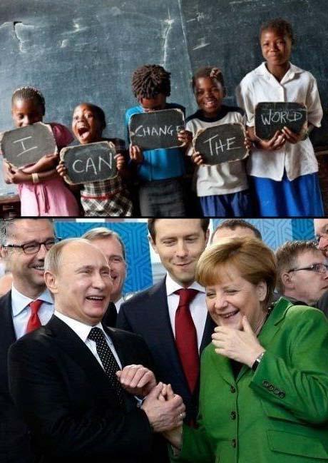 Politiker lustig lachen - Politikbilder mit Kindern