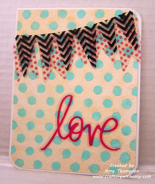 love banner card using heidi swapp products
