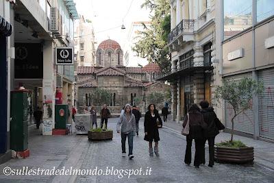 Atene La chiesa Kapnikareas Ermou st