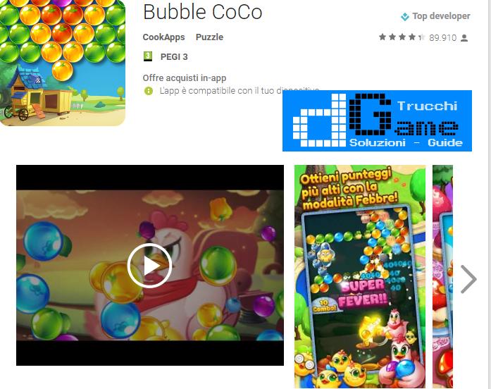 Trucchi Bubble CoCo Mod Apk Android v1.4.6.0