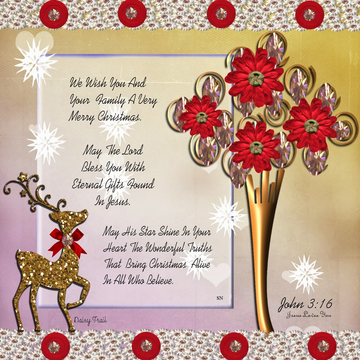 christian images in my treasure box christmas verses and