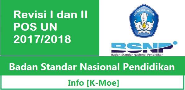 Revisi I dan II POS UN 2017/2018