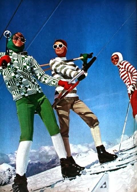 Incredible Vintage Ski Fashion Illicit Blag