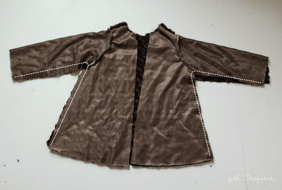 3b55078b494bd Patrón gratis  abrigo niña talla 4-5 años - yo elijo Coser