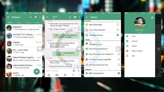 BBM Mod Thema WhatsApp Flat New Version 2.12.0.11 Apk Clone