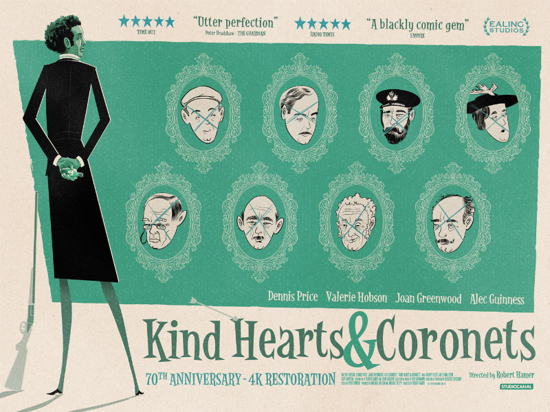 Kind Hearts & Coronets poster