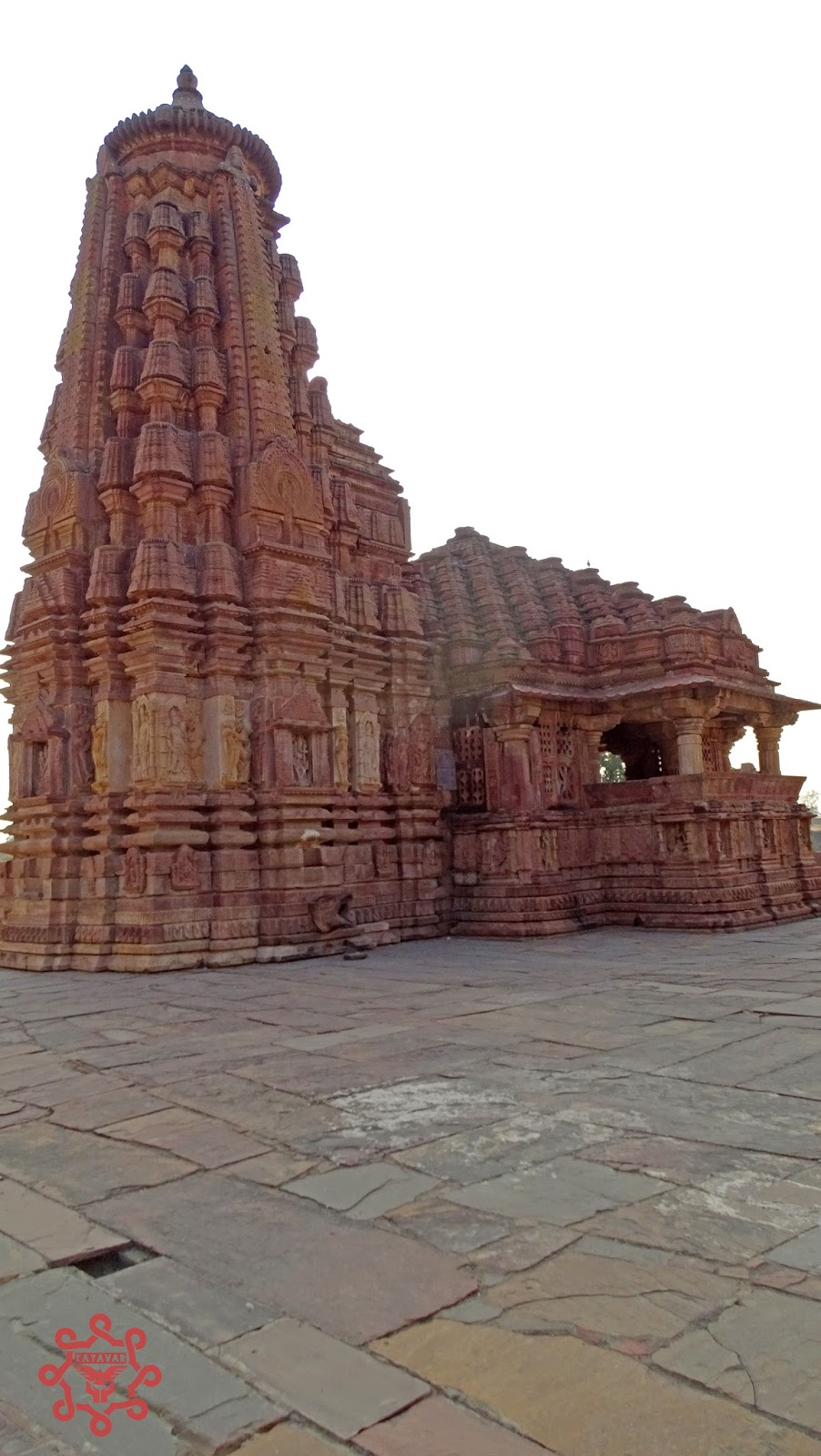 Beautifully carved Menal temple