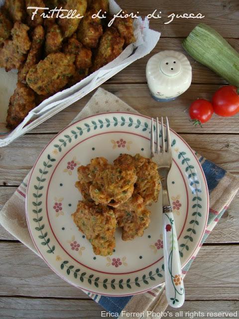 Ricetta delle frittelle con fiori di zucca