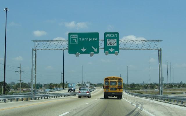 Trecho de Miami a Orlando e de Orlando a Miami