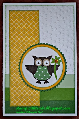 Owl, St. Patrick's Day, Stamp with Trude, Stampin' Up!, Mojo Monday