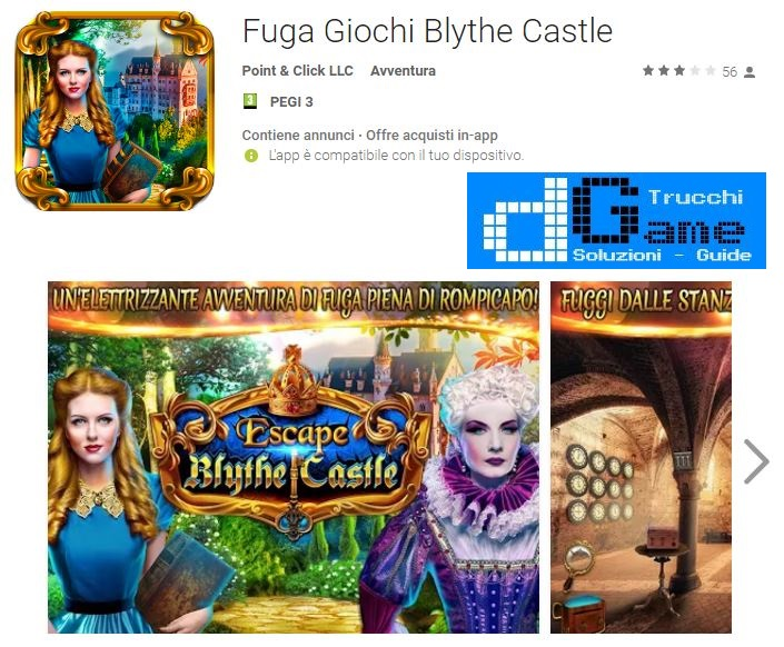 Soluzioni Fuga Giochi Blythe Castle livello Unico | Trucchi e Walkthrough level