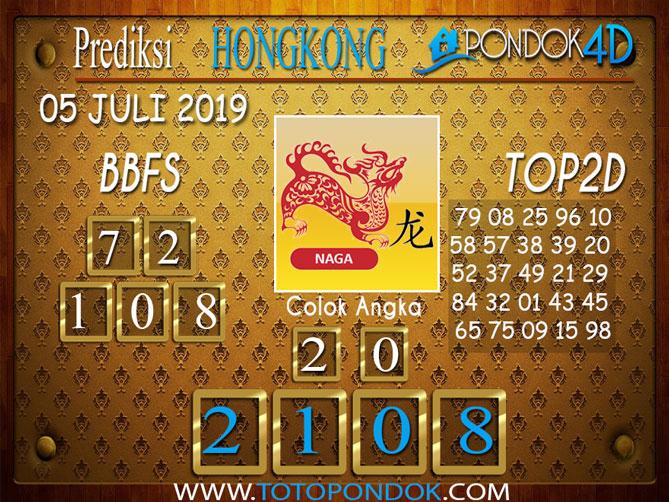 Prediksi Togel HONGKONG PONDOK4D 05 JULI  2019