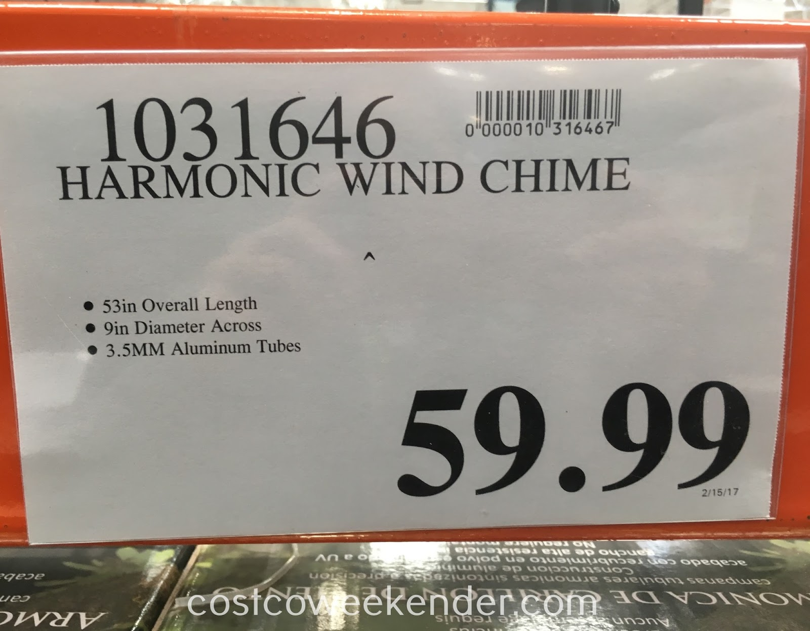 Deal for the Harmonic Wind Chime at Costco