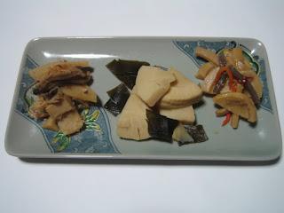 タケノコの三種盛り