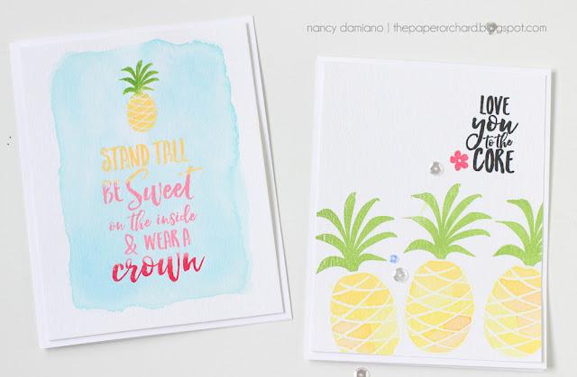 Nancy Damiano Pineapple Stamping Ellen Hutson