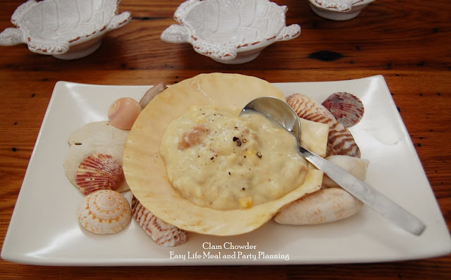 New England Clam Chowder by Easy Life Meal and Party Plannin