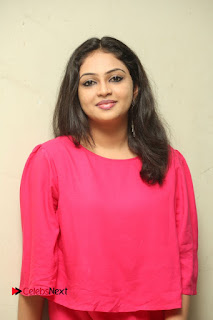 Actress Arundathi Nair Stills in Red Chididar at Bethaludu Success Meet  0075.JPG