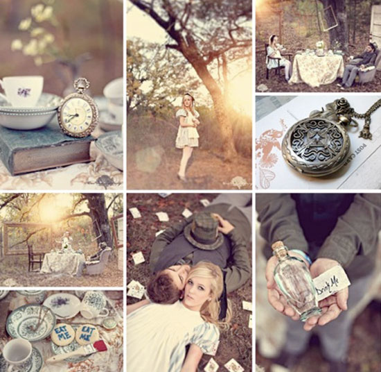 Prunellaa: Garden Wedding Ideas // Alice And Wonderland