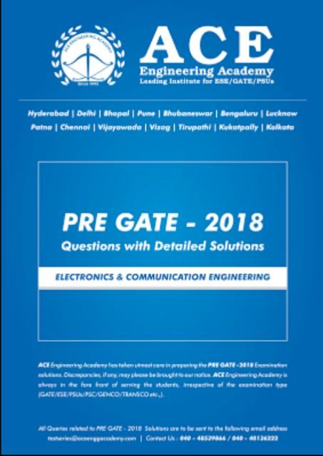 ACE ACADEMY PRE GATE 2018 [ECE]