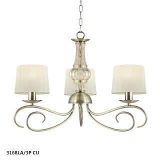 lampara araña de acero moderna