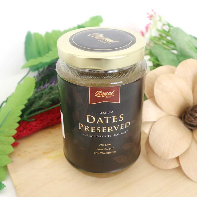 Preserved Dates Royal 350 Ml, selai, kurma, herbal, promil, program hamil alami.