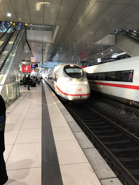 """Heading for Cologne by train @Frankfurt"""