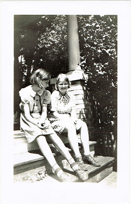two sisters at their grandparents home in Tampa Florida in the mid 1930s