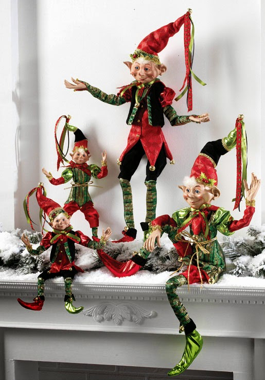 RAZ Merry! Merry! Merry! Elves at Trendy Tree