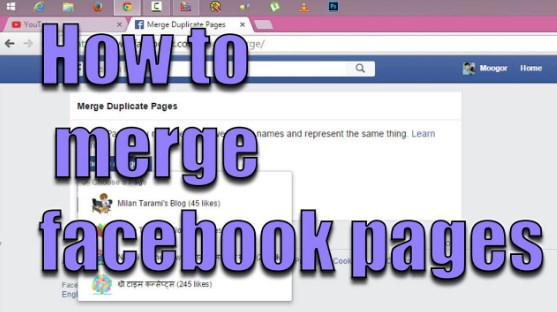 merge pages on facebook