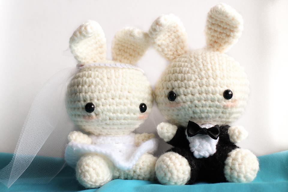 Crochet Mini Wedding Bears | 640x960